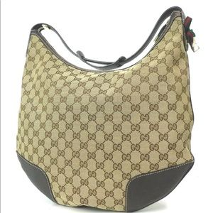 Gucci GG Pattern Canvas Shoulder Bag